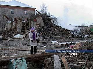 В посёлке Латная произошёл крупный пожар