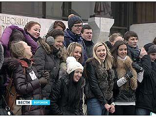 В преддверии Дня святого Валентина в Воронеже устроили флешмоб