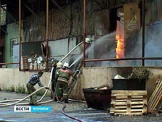 В Придонском от огня спасались работники склада