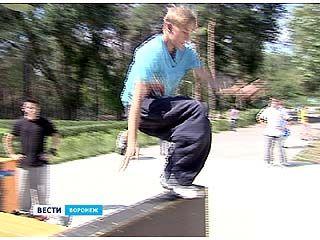В рамках Всероссийского тура в Воронеж приехали питерские паркурщики