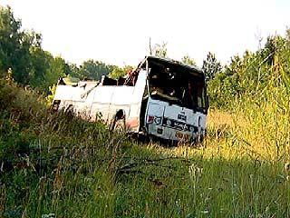 В Рамонском районе перевернулся рейсовый автобус
