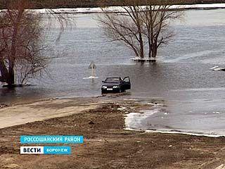 В районах Воронежской области уже затопило несколько мостов