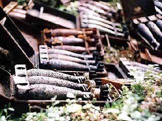 В районе села Кочетовка обнаружены снаряды времен войны