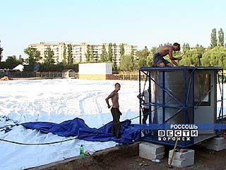 В Россоши за 1,5 часа появился новый спортзал