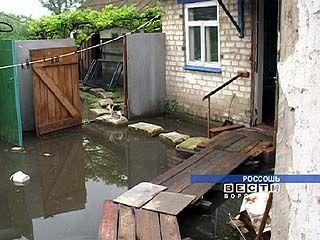 В Россоши затопило более 20-ти домов