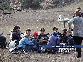 В селе Аношкино проходят соревнования по туризму