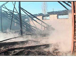 В селе Бабяково сгорел склад