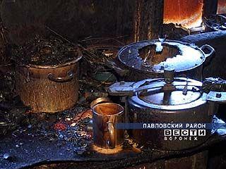 В селе Воронцовка произошел пожар