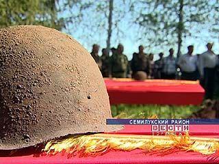 В Семилускском районе перезахоронили погибших солдат Красной армии