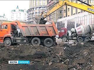 В сквере на Кирова началась подготовка к строительству подземной стоянки