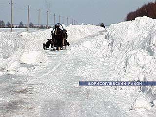 В снежном плену оказались жители Махровки