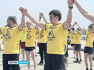 В столице Черноземья спортсмены взялись за рекламу здорового образа жизни