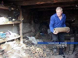 В Таловском районе обнаружили более двух тысяч неразорвавшихся снарядов