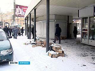 В центре Воронежа начали сносить киоски