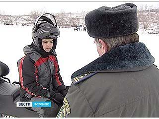 В Воронеже начали штрафовать водителей снегоходов