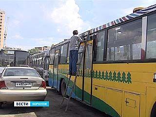 В Воронеже обдирают автобусы - перевозчики теряют деньги, у горожан глаз радуется