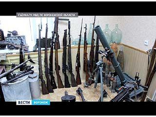 В Воронеже обнаружен оруженйный схрон