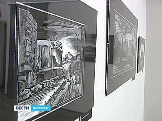 В Воронеже открылась выставка линогравюр художника Дениса Булавинцева