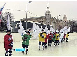 В Воронеже отметили год до 22-ых Зимних Олимпийских игр в Сочи