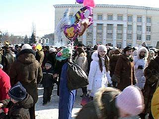 В Воронеже отметили конец масленицы