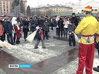 В Воронеже отметили последний день Масленицы