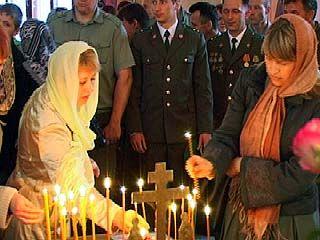 В Воронеже отслужили панихиду по погибшим воинам-пограничникам