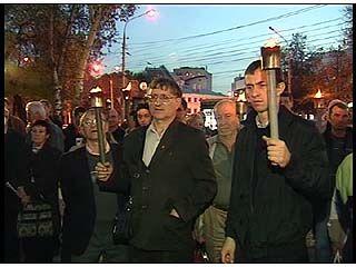 В Воронеже почтили память защитников Дома Советов
