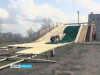 В Воронеже появится летняя горка для зимних забав