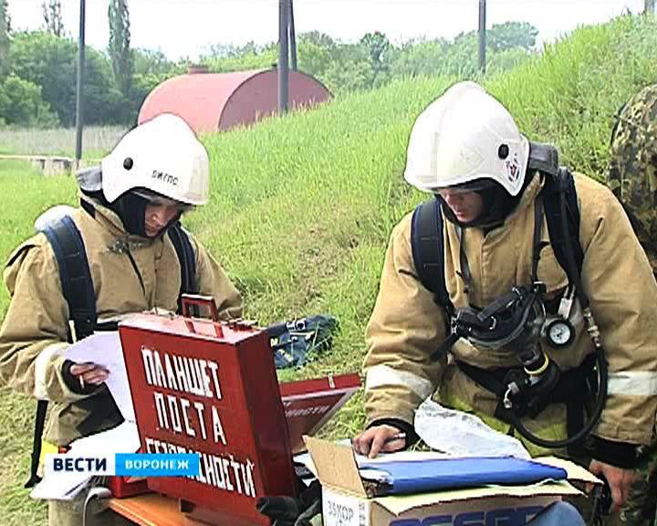 В Воронеже проходят учебно-тренировочные сборы пожарных