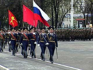 В Воронеже прошла первая репетиция парада