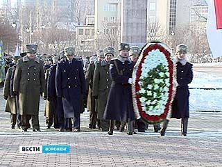 В Воронеже прошли митинги памяти в честь 69 годовщины освобождения