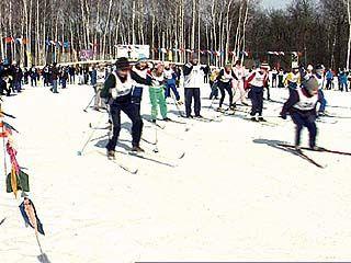 В Воронеже прошли первые в этом году соревнования по лыжным гонкам