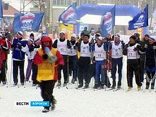 В Воронеже прошли соревнования по лыжным гонкам