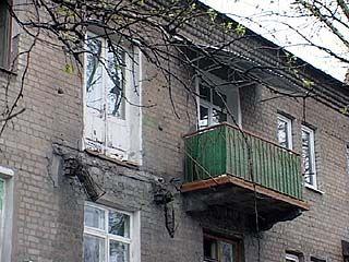 В Воронеже снова рушатся балконы