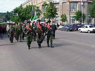 В Воронеже состоялось торжественное шествие пограничников
