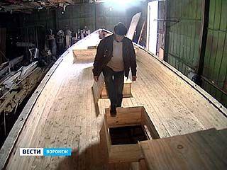 В Воронеже строят парусно-гребное судно
