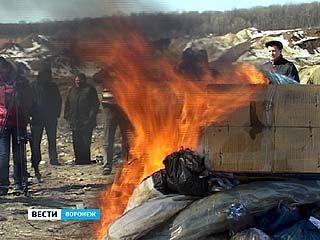 В Воронеже уничтожили более 300 килограммов наркотических веществ