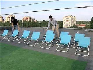 В Воронеже впервые открылся летний кинотеатр на крыше