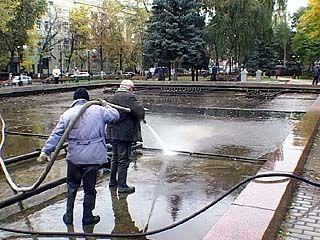 В Воронеже закончился сезон фонтанов