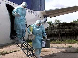 В воронежском аэропорту отрабатывали навыки борьбы с холерой