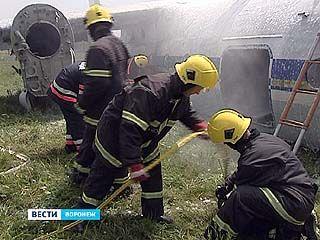 В Воронежском аэропорту провели крупномасштабные учения
