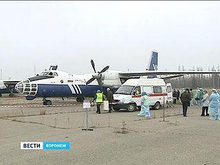 В Воронежском аэропорту тренировались, как вести себя в случае Эболы