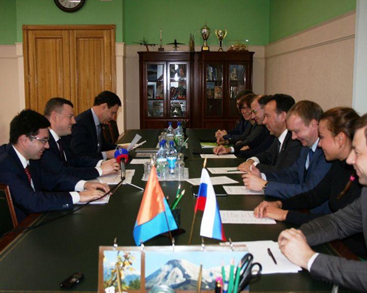 Владимир Салмин встретился с губернатором Тамбовской области Александром Никитиным