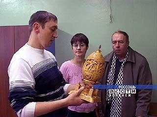 Владислав Гудылко из Россоши занял третье место на конкурсе резьбы по дереву