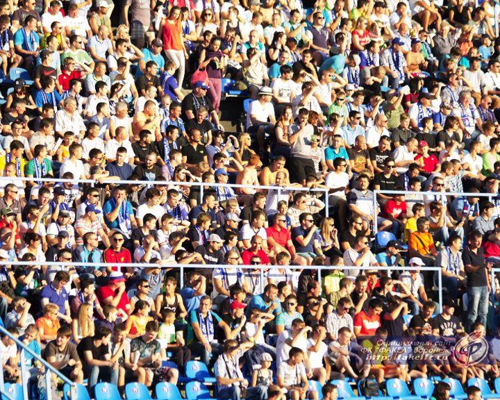 Во время матча в Воронеже болельщики «Факела» закидали бутылками игроков «Мордовии»