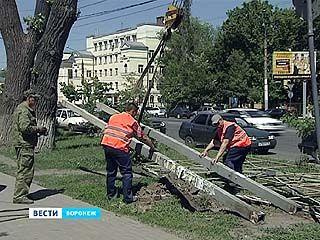 Воронеж будет лучше видно - в городе убирают рекламные конструкции
