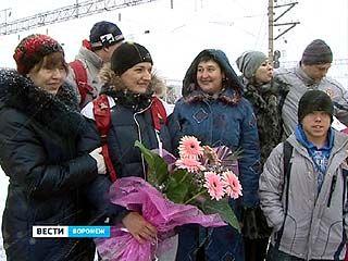 Воронеж встречал спортсменов-паралимпийцев