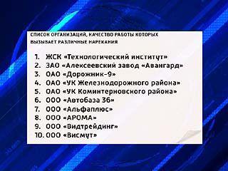 """Воронежская мэрия составила """"чёрный"""" список управляющих компаний"""