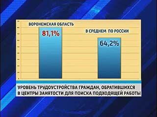 Воронежская область - в лидерах по трудоустройству
