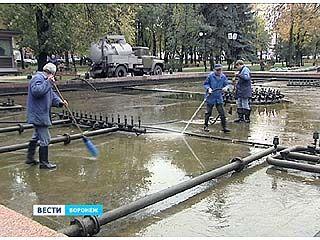 Воронежские фонтаны подготовили к зиме